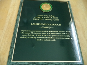 Lauren HOF Plaque