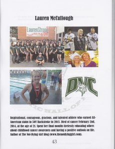 Lauren HOF Yearbook Page